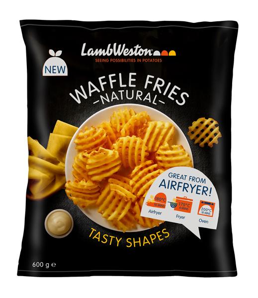 Waffle Fries Natural